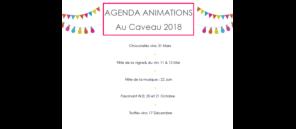 TOUTES NOS ANIMATIONS AU CAVEAU EN 2018