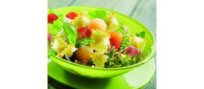 Raviole and melon salad