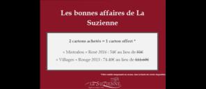 """Retour des PROMOS au Caveau """"2 cartons achetés = 1 carton offert """""""