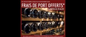 FRAIS DE PORT OFFERTS A PARTIR DE 24 BLLES DU 1ER OCTOBRE AU 30 NOVEMBRE 2020